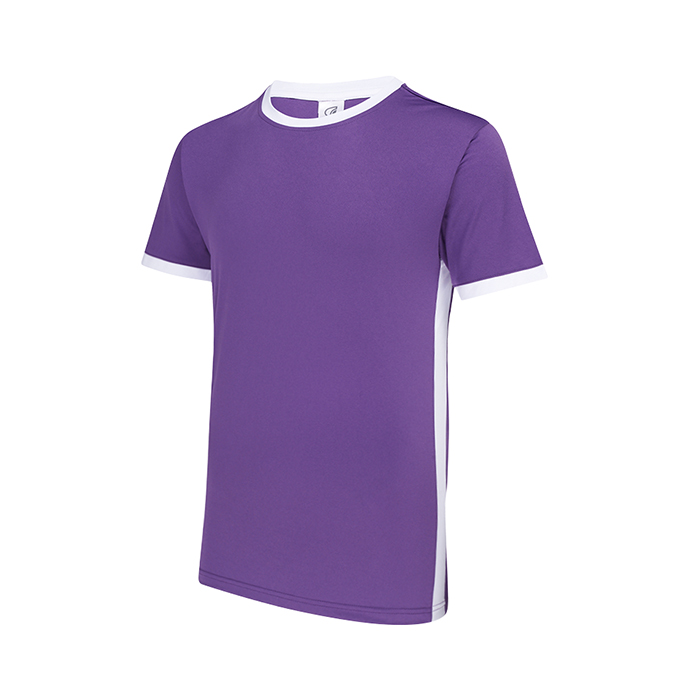 CONTRAST SIDE PANEL ROUND NECK T-SHIRT