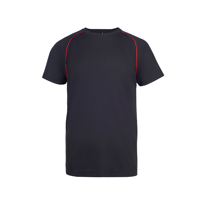 Contrast Vov Piping Round Neck T-Shirt