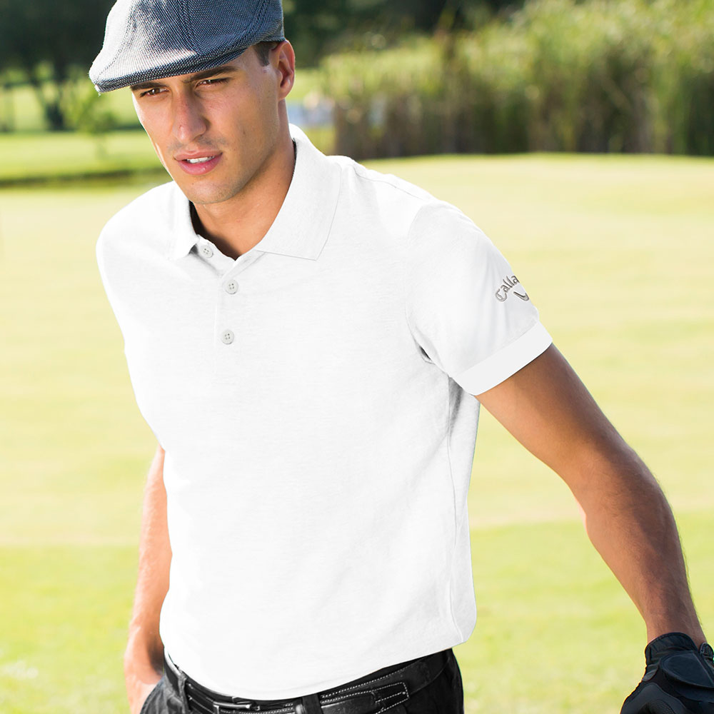 Callaway Solid Interlock Polo T-shirt (Self Fabric Collar)