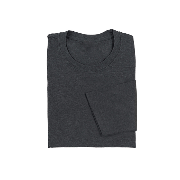 COTTON LONG SLEEVE ROUND NECK T-SHIRT