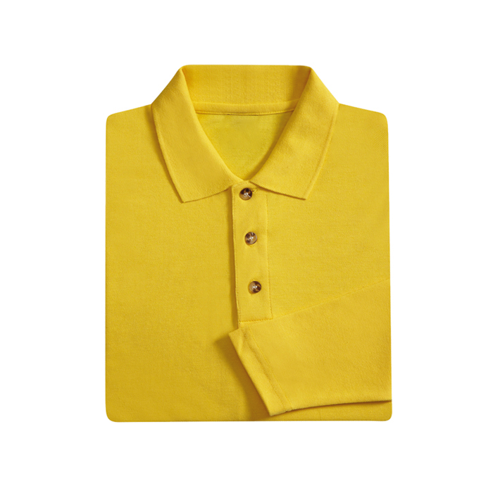 Honeycomb Long Sleeve Polo T-shirt