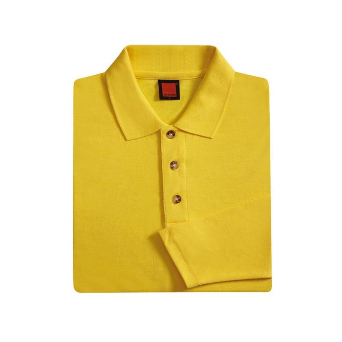 Honeycomb Long Sleeve Polo T-shirt