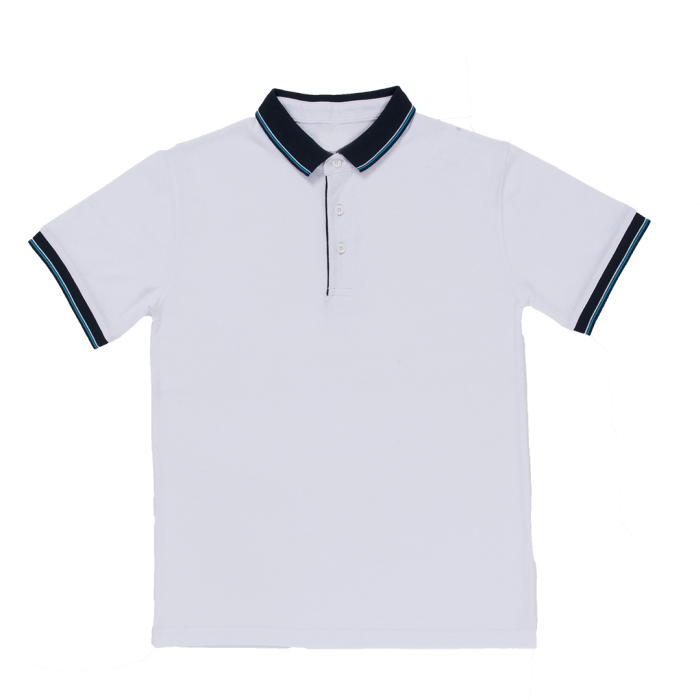Honeycomb Collar & Short Sleeve Polo T-shirt