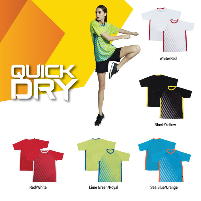 Quick Dry Pattern Round Neck T-shirt