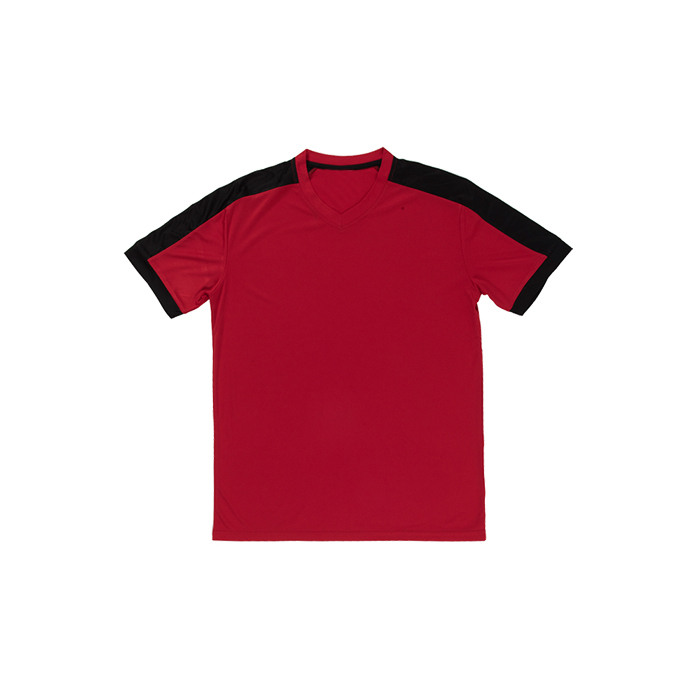 Quick Dry Contrast V-Neck T-shirt
